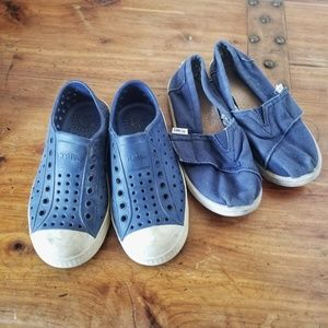 Toms Shoes - Toms Native Boys Lot of 2 Pairs of Shoes